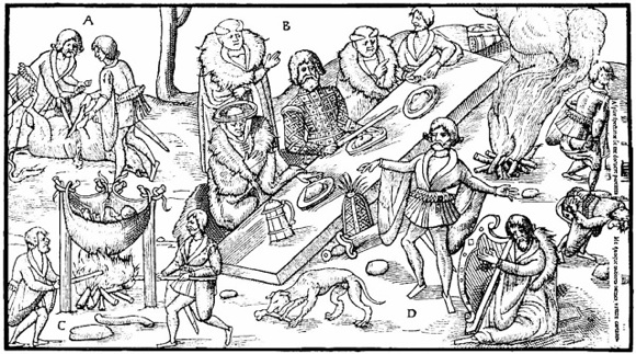 medieval feast coloring pages - photo#23